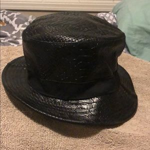 Men's leather hat